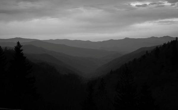 Photograph - Smoky Mountains Landscape Black And White by Dan Sproul