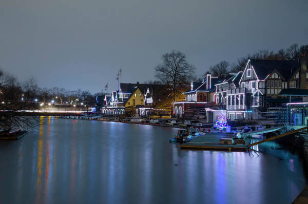 Photograph - Smooth As Glass - Boathouse Row Philadelphia by Bill Cannon