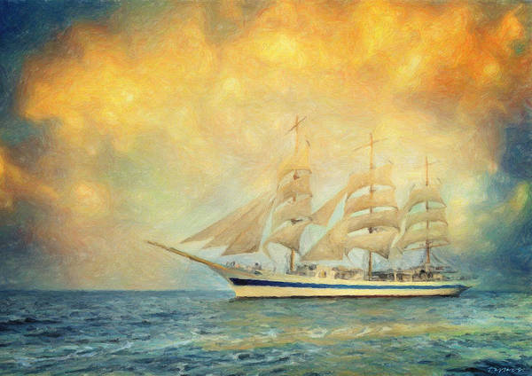 Painting - Smooth Sailing by Zapista Zapista