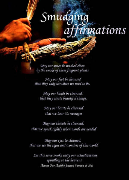 Digital Art - Sage Smudging Affirmations by Adenike AmenRa