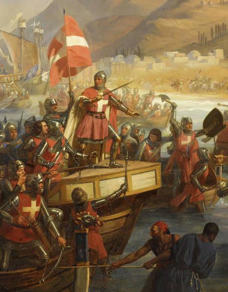 Wall Art - Painting - Smyrniote Crusades, Siege Of Smyrna, 1344 by Charles-Alexandre Debacq