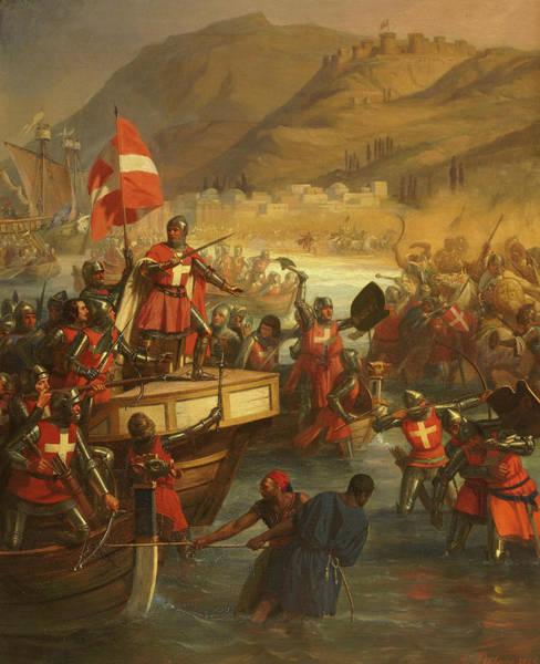 Wall Art - Painting - Smyrniote Crusades, Siege Of Smyrna by Charles-Alexandre Debacq
