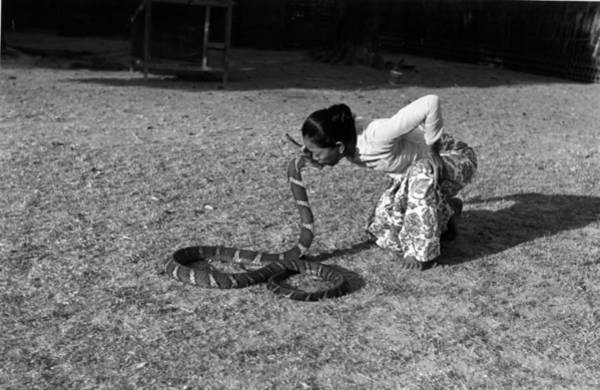 Indian Culture Photograph - Snake Charmer by Bert Hardy