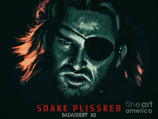 Mixed Media - Snake Plissken - Badassery 101 - Escape From New York 1981 by Kultur Arts Studios