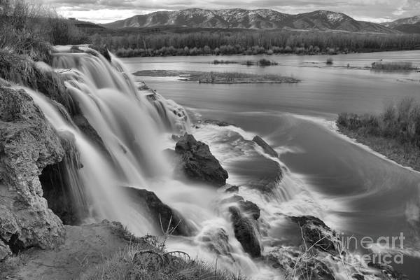 Photograph - Snake River Fall Creek Falls Black And White by Adam Jewell