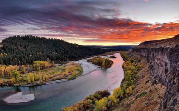 Idaho Photograph - Snake River Sunset 3 by Leland D Howard