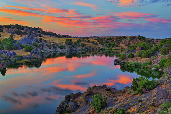 Photograph - Snake River Twilight Reflections by Greg Norrell