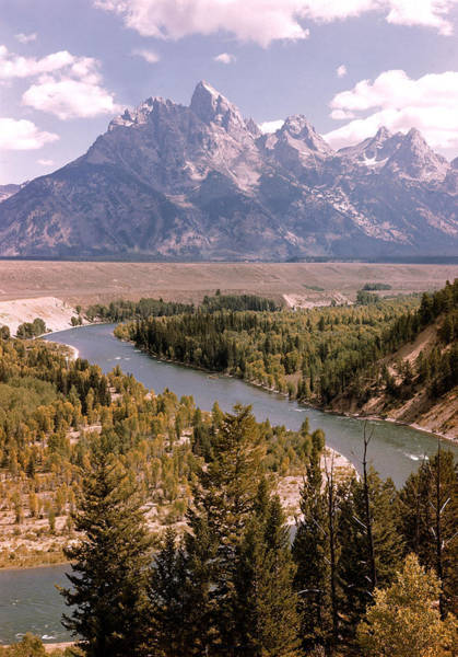Snake Photograph - Snake River W. Tetons In Bkgrd.  Photo by Alfred Eisenstaedt