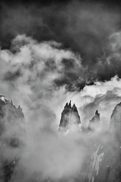 Wall Art - Photograph - Sneaking Thru The Clouded Alps II by Jon Glaser