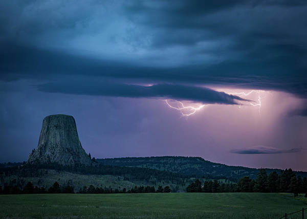Photograph - Sneaky Lightning by Laura Hedien