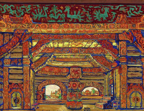 Wall Art - Painting - Snegurochka - Digital Remastered Edition by Nicholas Roerich