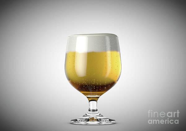 Wall Art - Digital Art - Snifter Beer Pint by Allan Swart