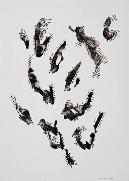 Painting - Snoopers Series, 2006 Ink On Paper by Dario Ramirez