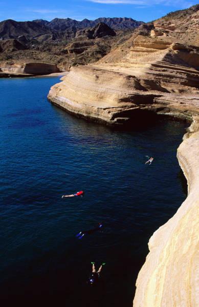 Snorkel Photograph - Snorkelers At Punta Colorada by Ralph Lee Hopkins