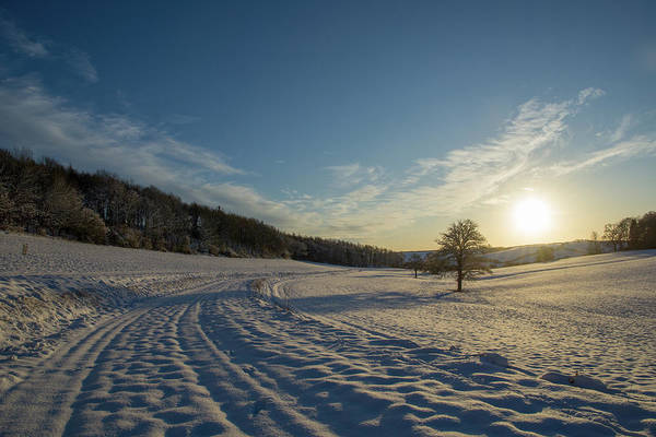 Photograph - Snow And Sunset by Mark Hunter