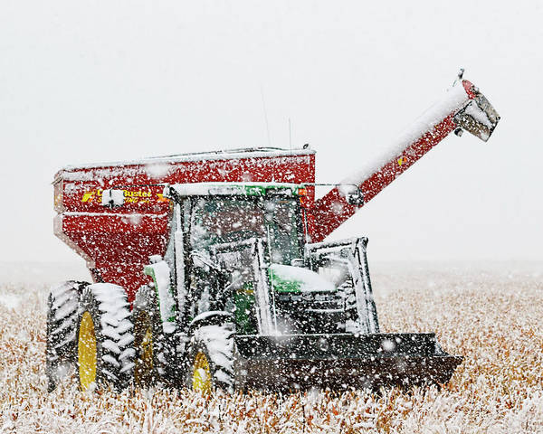 Photograph - Snow And Tractor 01 by Rob Graham