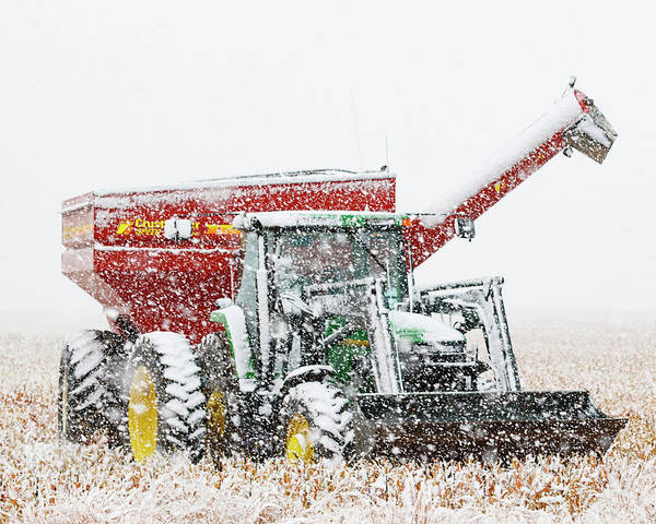 Photograph - Snow And Tractor 02 by Rob Graham