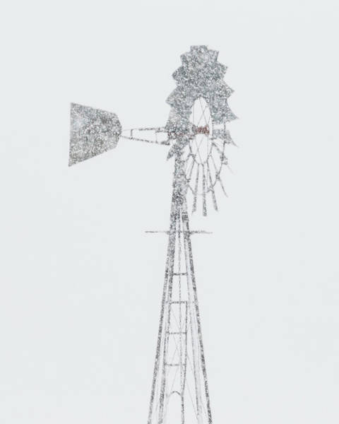 Photograph - Snow And Windmill 05 by Rob Graham