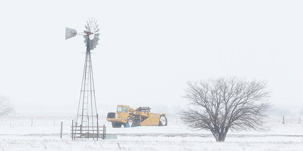 Photograph - Snow And Windmill 09 by Rob Graham