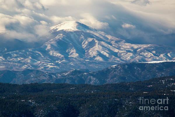 Photograph - Snow Approaching Sangre De Cristo by Steve Krull