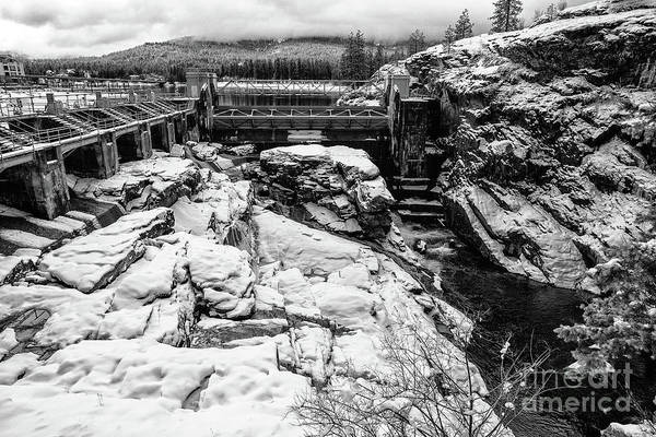 Photograph - Snow At Post Falls Dam by Matthew Nelson