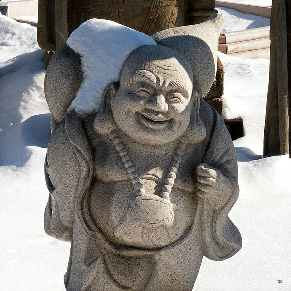 Photograph - Snow Buddah by Tom Romeo