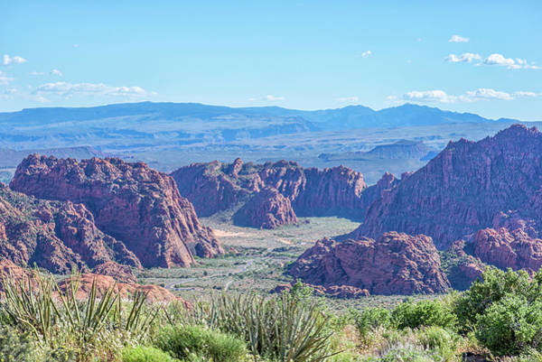 Photograph - Snow Canyon From Panorama by Joseph S Giacalone
