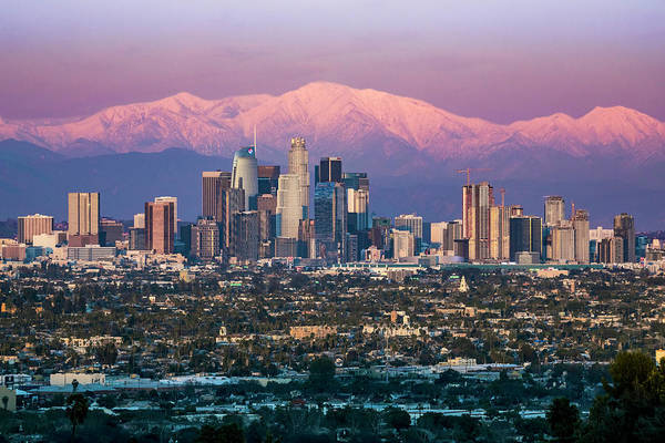 Photograph - Snow Capped Los Angeles by Kelley King
