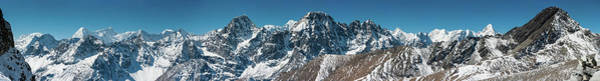 Wall Art - Photograph - Snow Capped Mountain Range Super by Fotovoyager