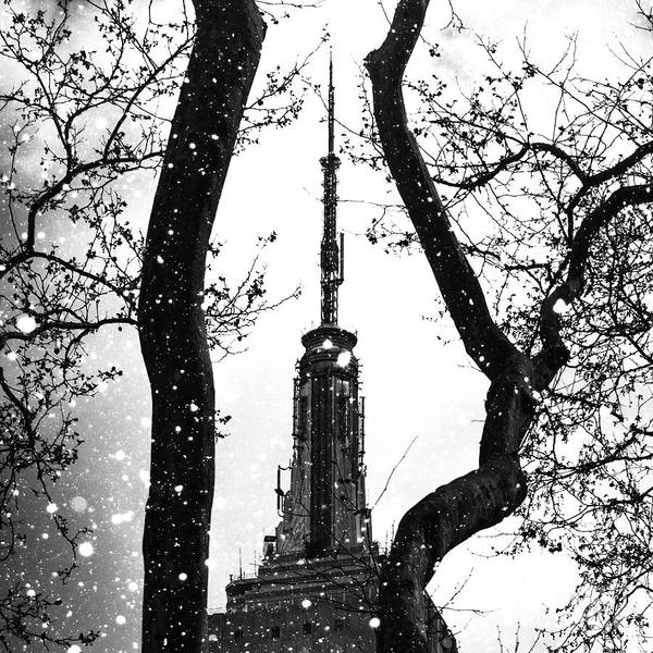 Empire State Building Digital Art - Snow Collection Set 07 by Az Jackson