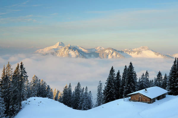 Chalet Photograph - Snow-covered Alpine Hut With by Andreas Strauss / Look-foto