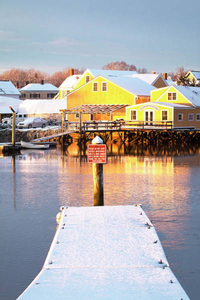 Wall Art - Photograph - Snow Covered Boat Ramp by Eric Gendron