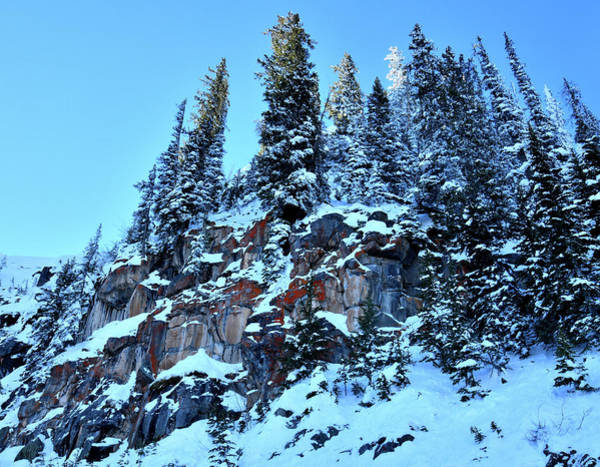 Photograph - Snow Covered Cliffs Above Scenic Byway 65 On Grand Mesa In Colorado by Ray Mathis