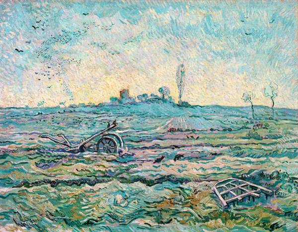 Wall Art - Painting - Snow-covered Field With A Harrow - Digital Remastered Edition by Vincent van Gogh