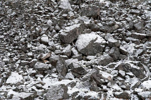 Okanagan Photograph - Snow Covered Granite Boulders by Stuart Mccall