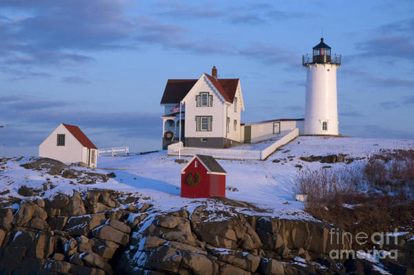 Wall Art - Photograph - Snow Covered Lighthouse During Holiday by Allan Wood Photography