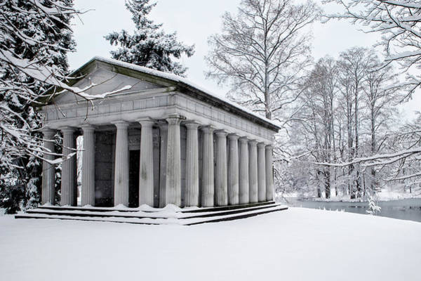 Photograph - Snow Covered Monument by Ed Taylor