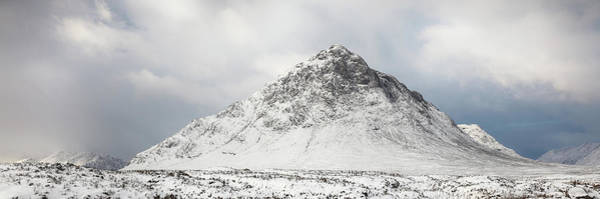 Wall Art - Photograph - Snow Covered Mountain - Glencoe by Grant Glendinning