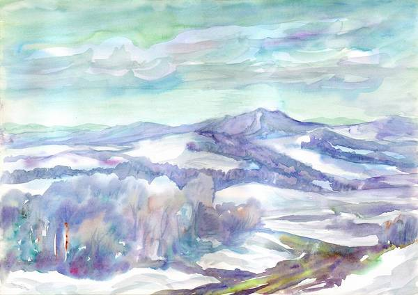 Painting - Snow-covered Mountain Landscape In Clear Frosty Weather by Irina Dobrotsvet