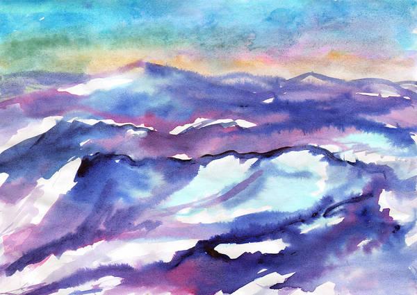 Painting - Snow Covered Mountain Ranges by Irina Dobrotsvet