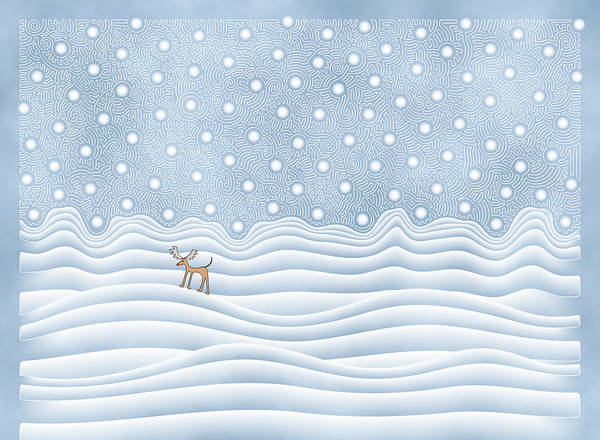 Digital Art - Snow Day by Becky Titus