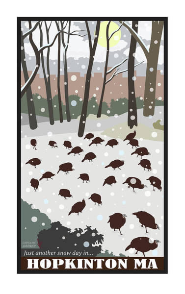 Digital Art - Snow Day In Hopkinton by Caroline Barnes