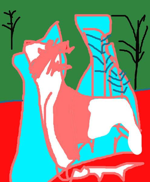 Digital Art - Snow Deer by Artist Dot