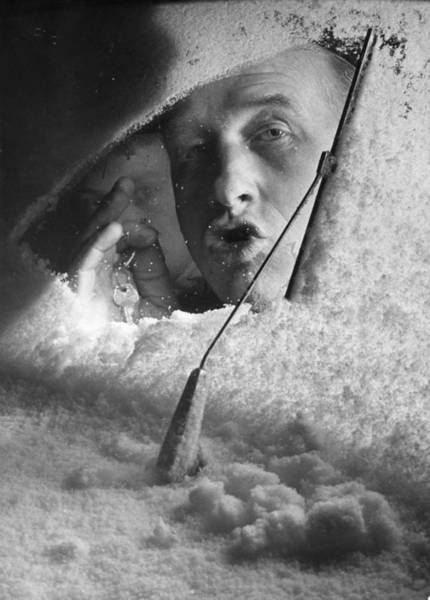 Trapped Photograph - Snow Driver by Fox Photos
