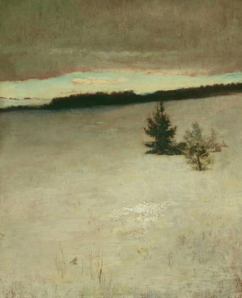 Painting - Snow Field, Morning, Roxbury by John La Farge