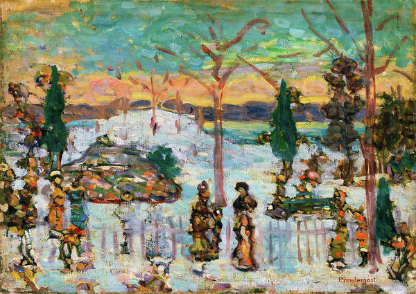Wall Art - Painting - Snow In April - Digital Remastered Edition by Maurice Brazil Prendergast
