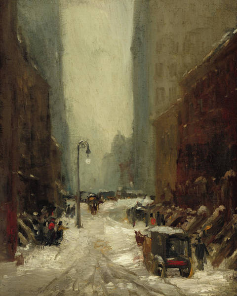 Wall Art - Painting - Snow In New York, 1902 by Robert Henri