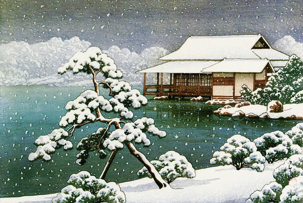 Wall Art - Painting - Snow In The Seichoen - Digital Remastered Edition by Kawase Hasui