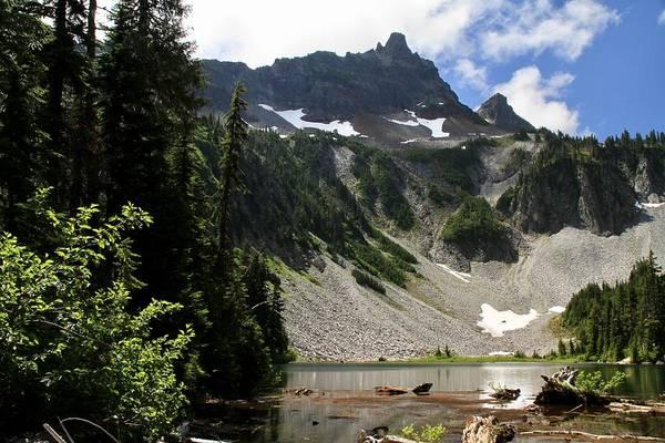 Photograph - The Unicorn And Snow Lake Tatoosh Mountains by Ed  Riche