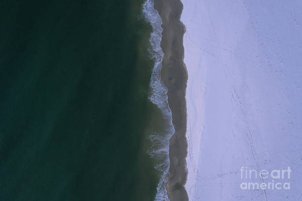 Wall Art - Photograph - Snow Meets Ocean  by Michael Ver Sprill